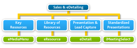 sales and eDetail solution flow chart